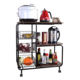 Home Storage Foldable Kitchen Organizers Cart Trolley Furniture Rack Shelf