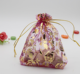 Gold rose style Gift Packing Bag Drawstring Pouch Organza Bag Packing