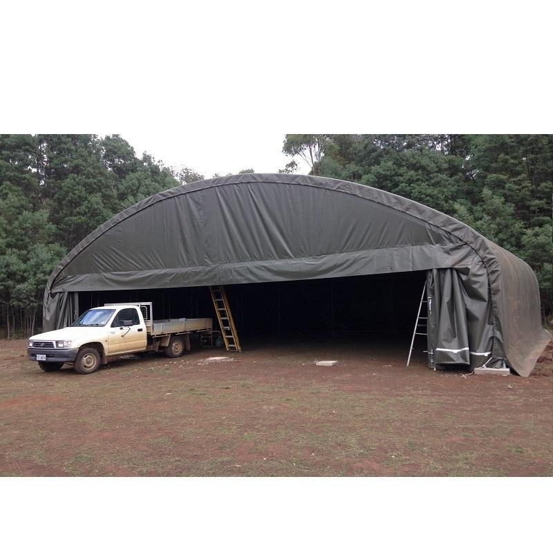 gs Metal Steel Frame Storage Shelter Tent Warehouse Outdoor Fabric Structures For Truck And Equipment