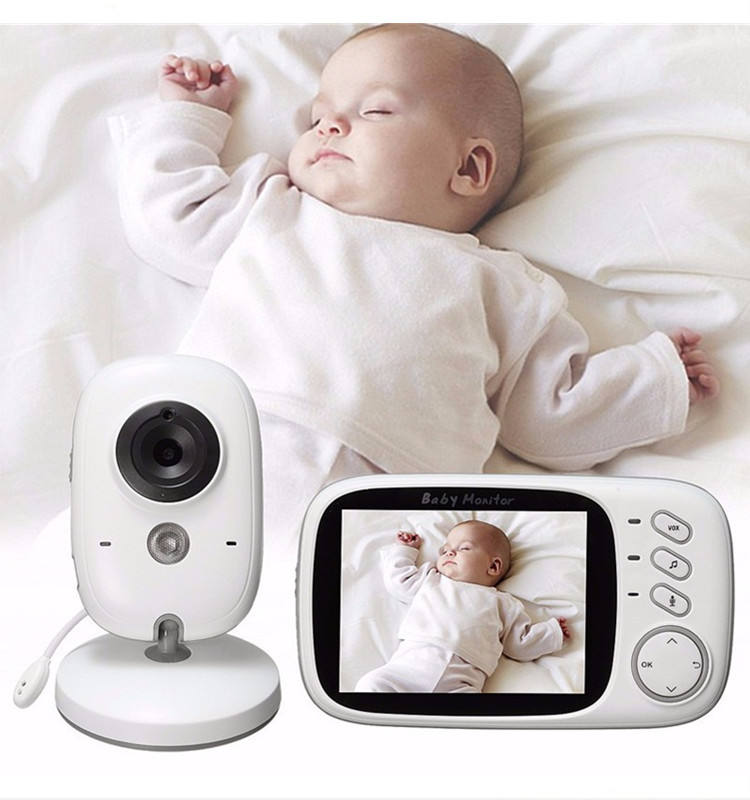 Wholesale Wireless 3.2 Inch Security Baby Monitor Video Nanny Mini Camera Night Vision Temperature Monitoring