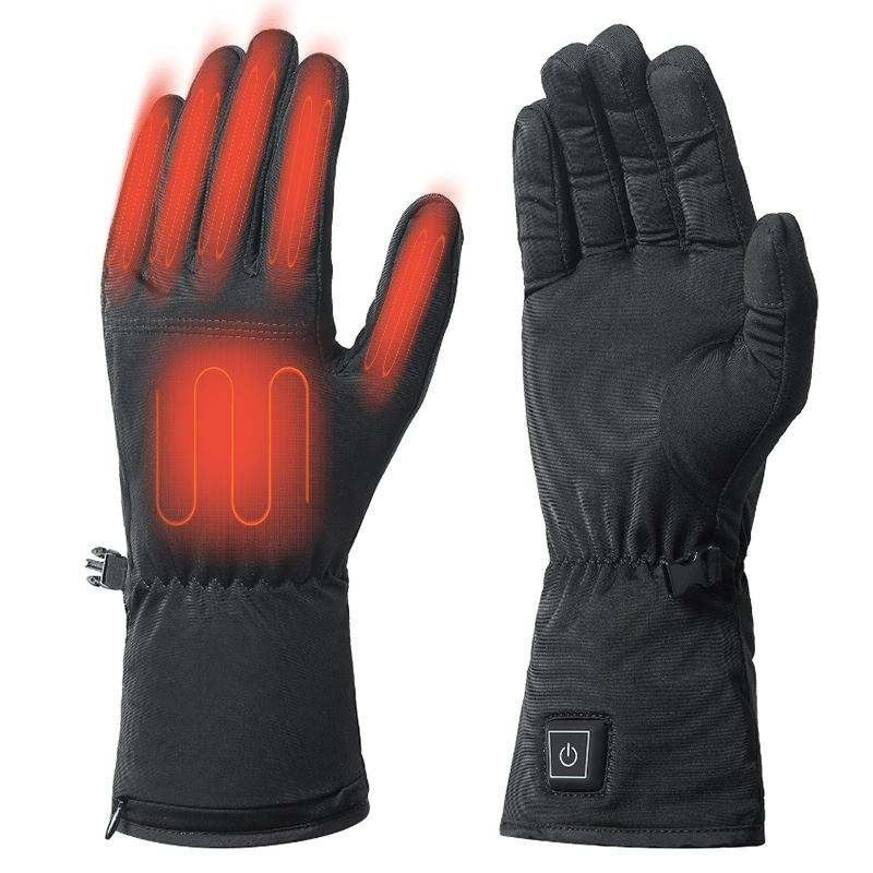 Customize 7.4V WOMEN / MEN thermal battery rechargeable thin heated gloves for cold winter hand warmer