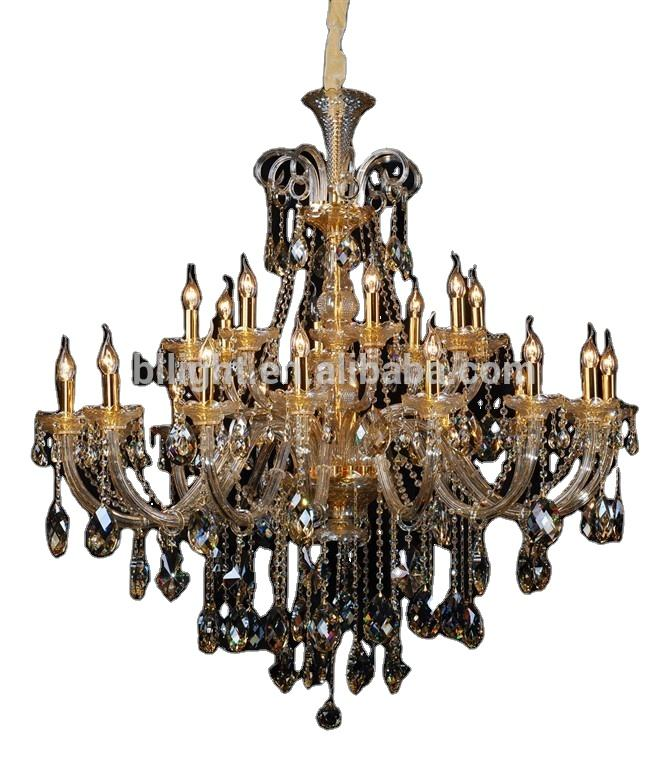 Golden plated pendant candle lamps asfour crystal chandelier lighting bohemia style czech republic design