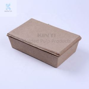 Recycled Paper Pulp Molded Skincare Set Packaging Box,Box with Inserts