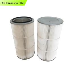 China manufacturer customized high efficiency polyester PTFE Film-covered dust filter dust filter cartridge Membrane dust filter