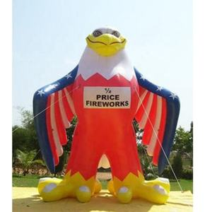 Giant Inflatable Eagle Model Cartoon Balloon with American Flag for Advertising