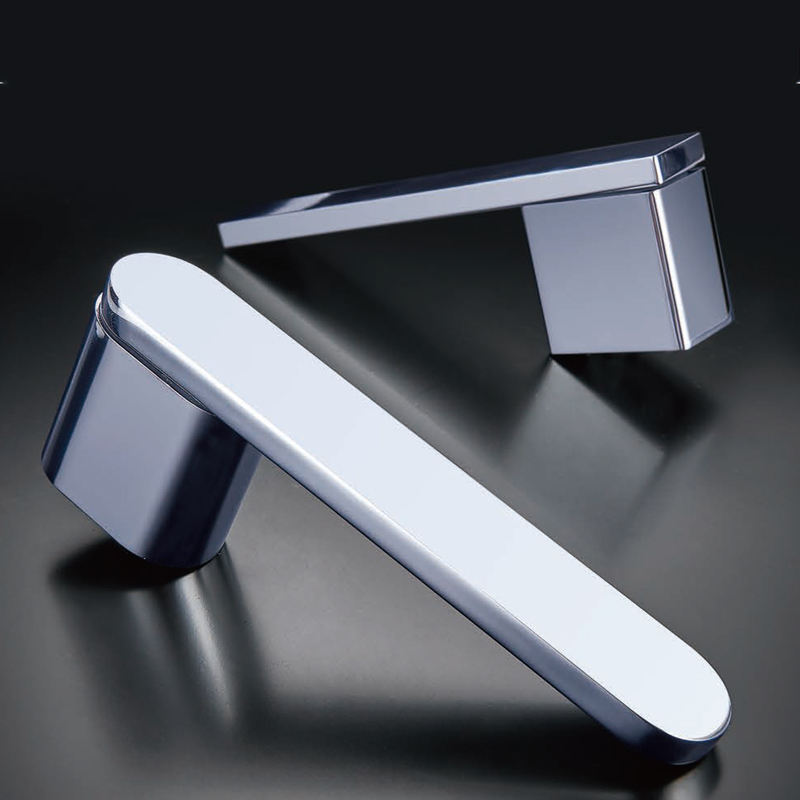 Chrome plated Square Lever Door Handle