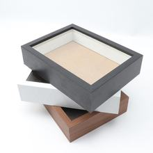MDF  Black or White shadow box photo picture frames made in China