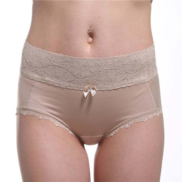 High Quality Bamboo Charcoal Fiber Lace Butt Lifter Nude Lady Underwear Images