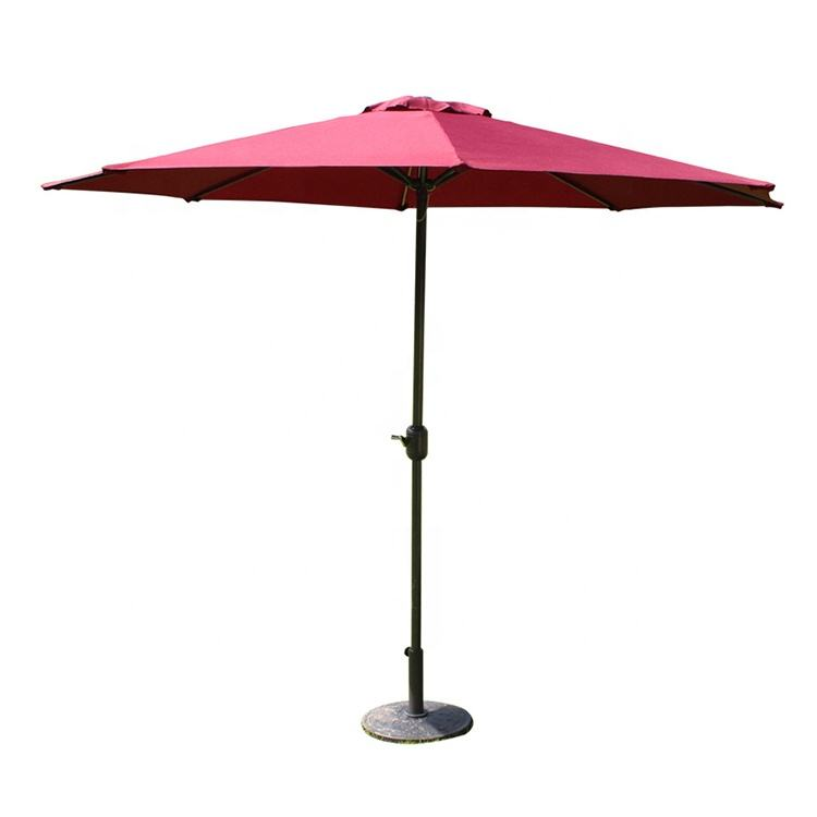 Cheap Hot Sale High Quality Sun Big Steel Parts Commercial Outdoor Umbrella Modern