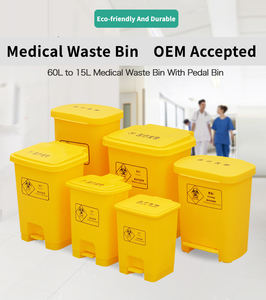 Plastic 50l Pedal Can Recycle 30l For Biological Waste China Bin Hospital Garbage Trash Bin