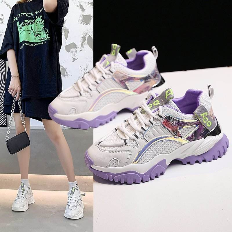 2020 Platform Sneakers Women Casual Shoes Ladies Shoes Female Fashion Sneaker Lace Up Leisure Women Shoes Zapatillas mujer