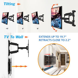 Movable tv wall mount bracket support 120 degrees swivel up to 40kgs/88lb