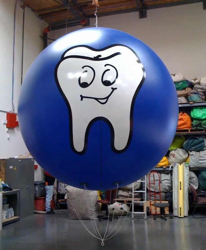 as the picture tooth printed inflatable helium balloon for sale