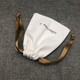 Wholesale Printed Logo White Organic Cotton Jewelry Pouch