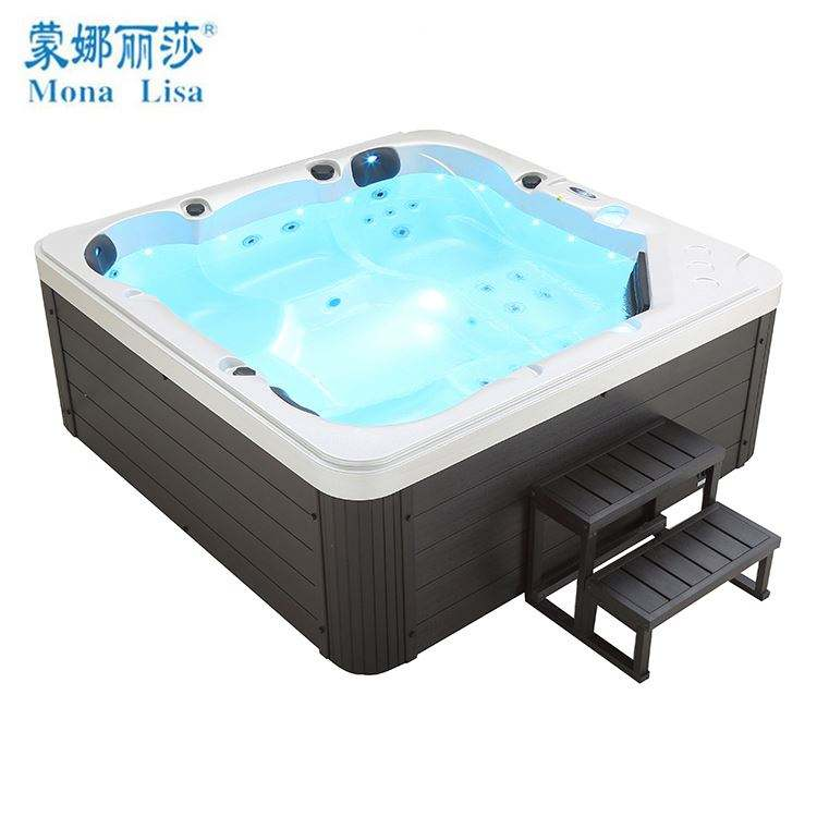 hydrotherapy massage outdoor spa bath with ounge hot tub