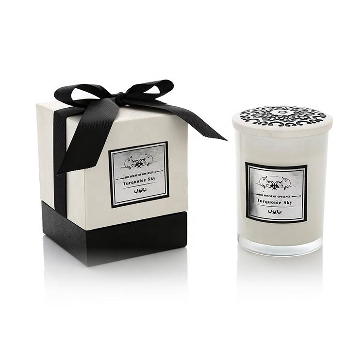 New Product Nontoxic 100% Natural 200G Scented Soy Candle In Glass Jar With Gift Box