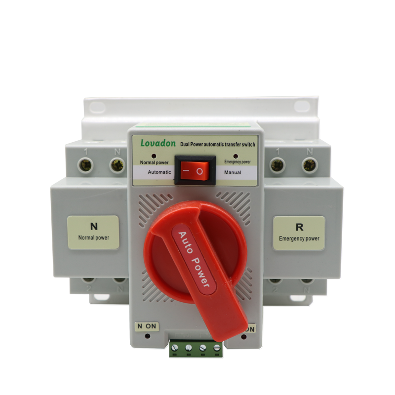 newest Single Phase 63A 2p Ac Mini Electrical Dual Power Ats Automatic Transfer Switch 220v with good quality For Generator