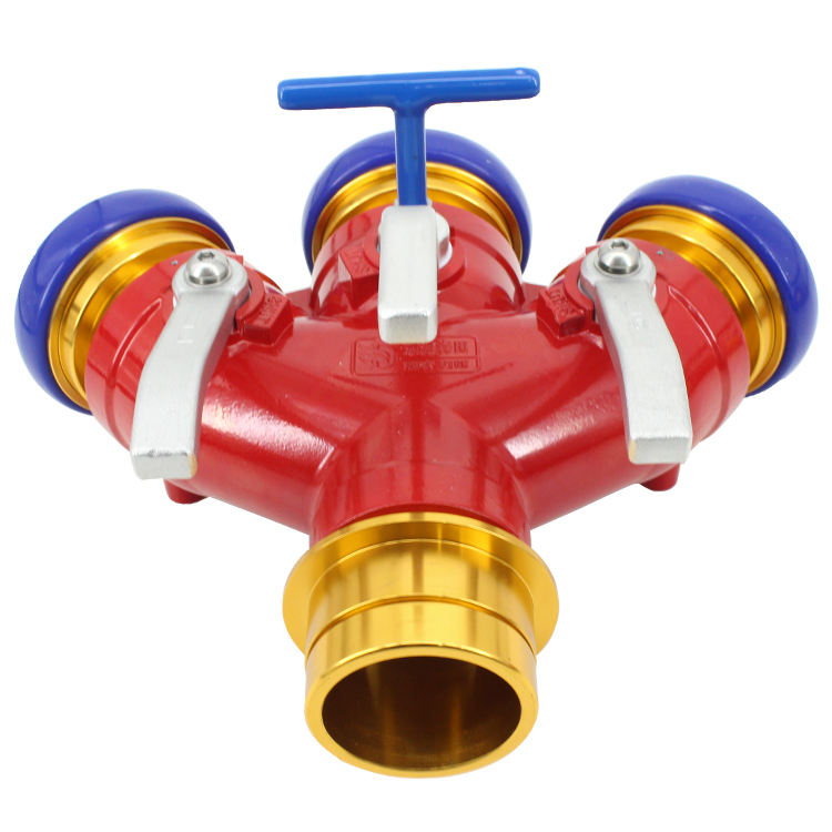 Fire Brigade Firefighting Equipment Two Connector Water Segregator