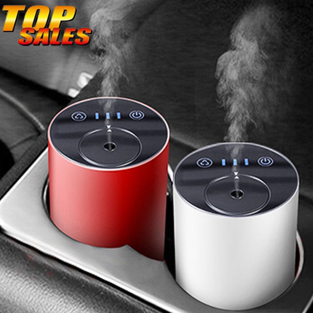 Car mini oils aromatherapy difuser wireless rechargeable humidifier aroma diffuser for essential oils with 7 colors