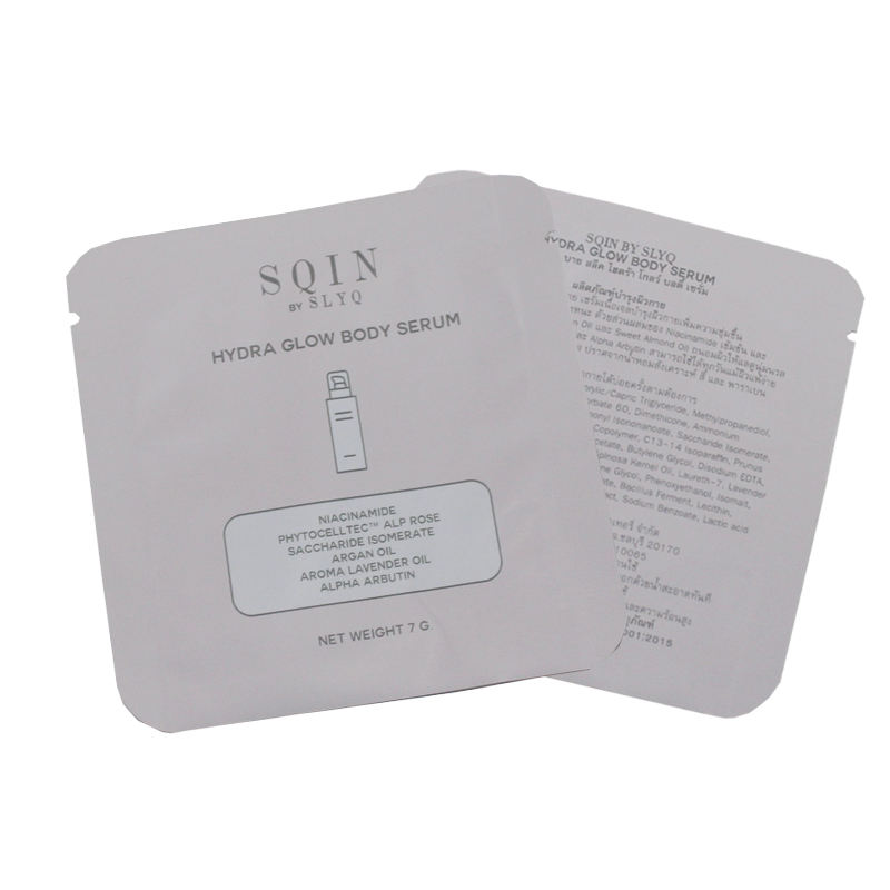 Low MOQ 500 Mini heat seal pouch sample packet for body serum 7g bag