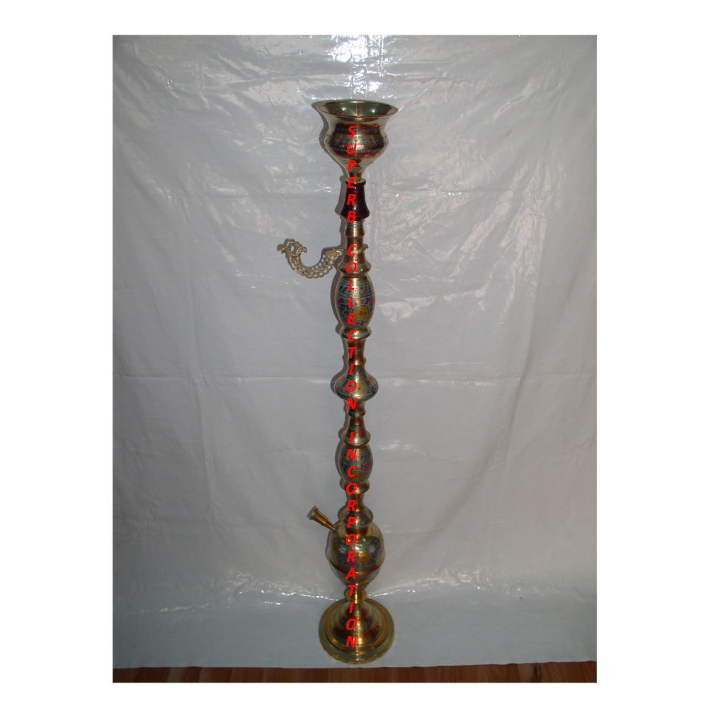Large Brass Gold Engraved Pattern hookah For Lounge Hot Selling and High Quality Direct India factory Sale On hot Sale