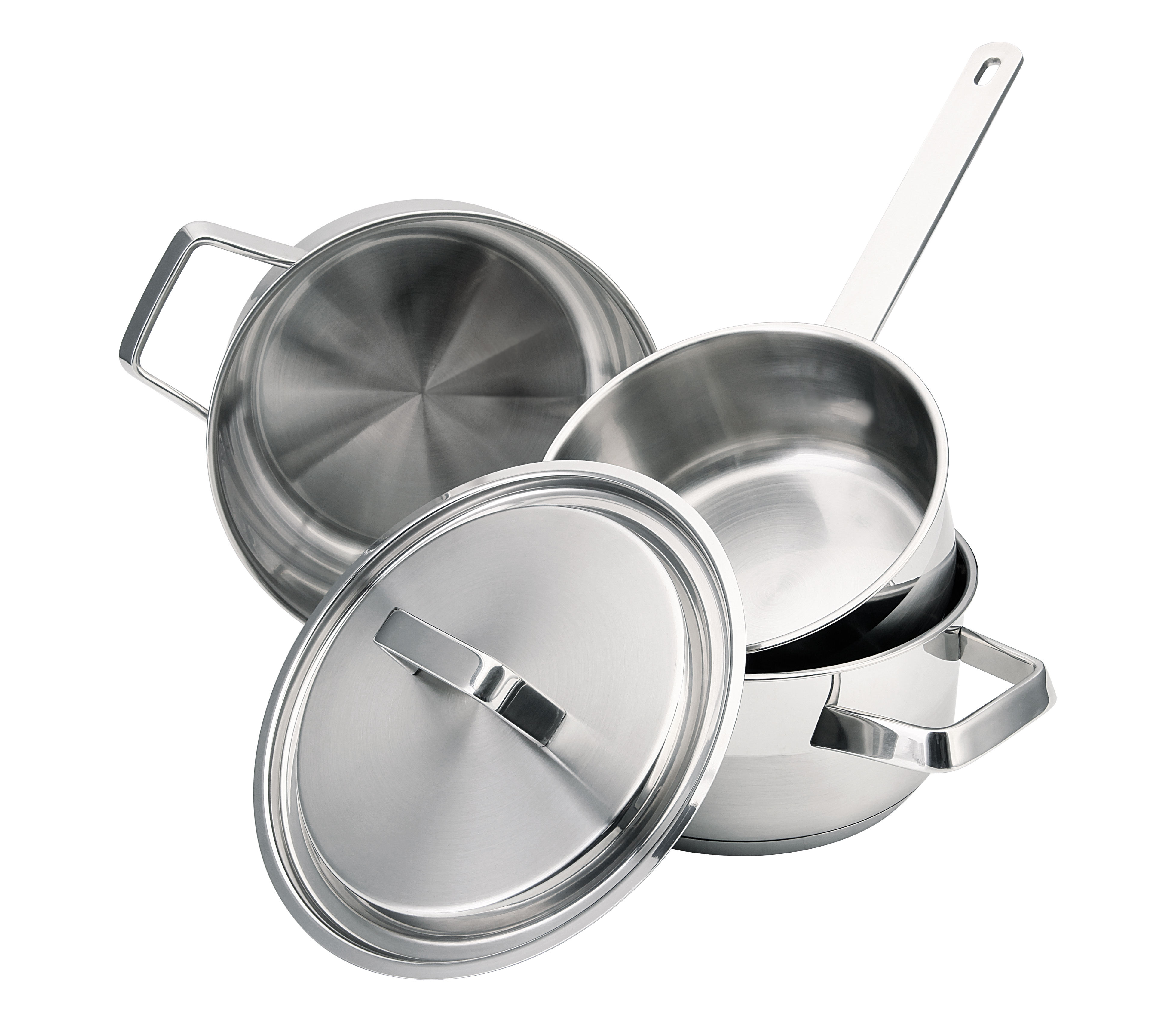 Hot sell stainless steel cookware set cookware soup stock pots for household