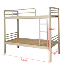 Wholesale dormitory double decker twin full size metal bunk bed for adult student