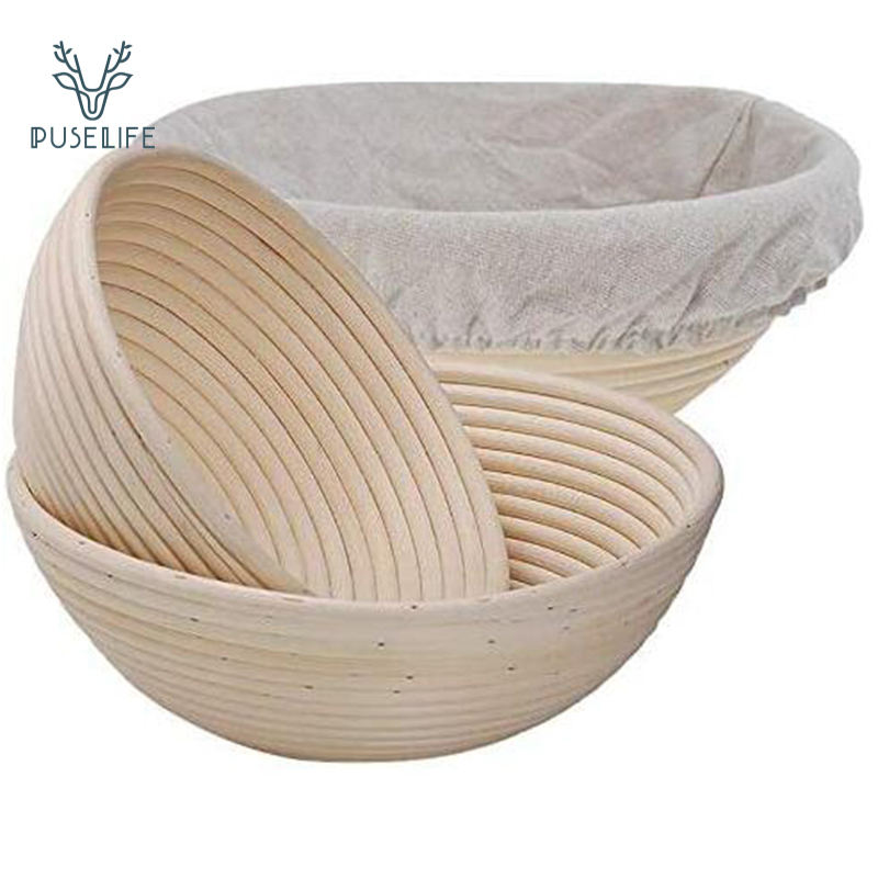Eco-friendly Natural rising Rattan Round oval triangle baking Bread fermentation wooden proofing Storage Basket