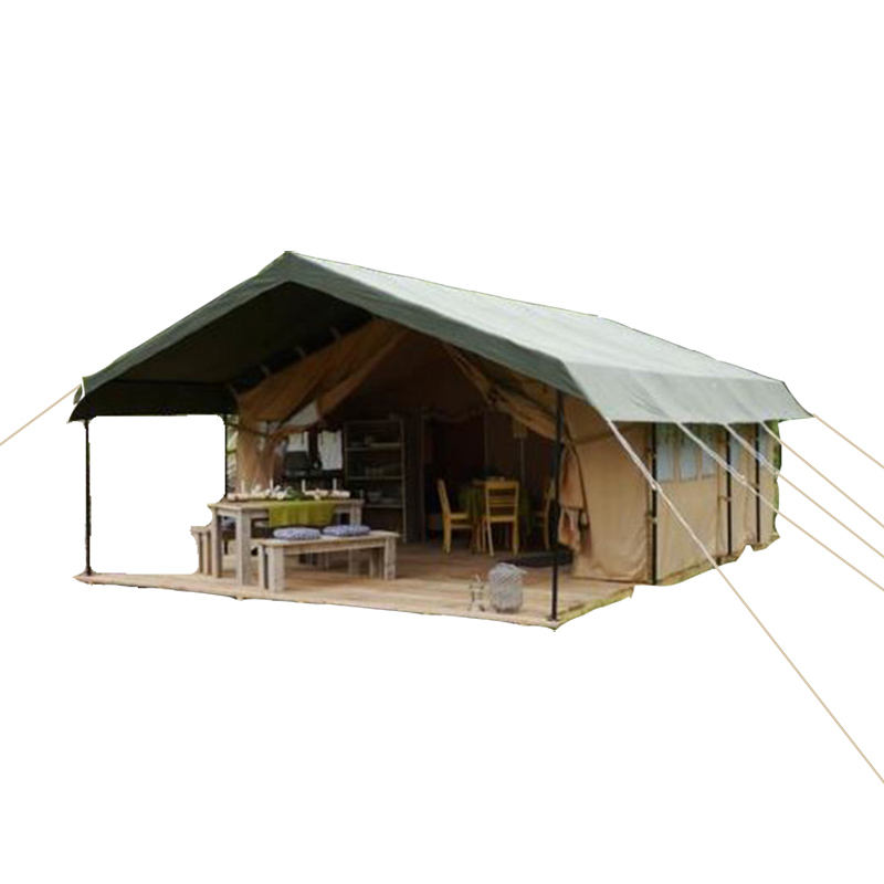 White canvas safari tent glamping tent on sale