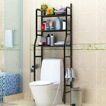 Toilet stand Corner Shelf Bath Rack 304 Stainless Steel Glass Silver Caddy Wall Style Surface Bathroom Color