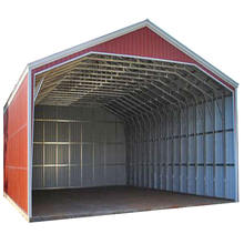 prefabricated steel building construction for car service shed