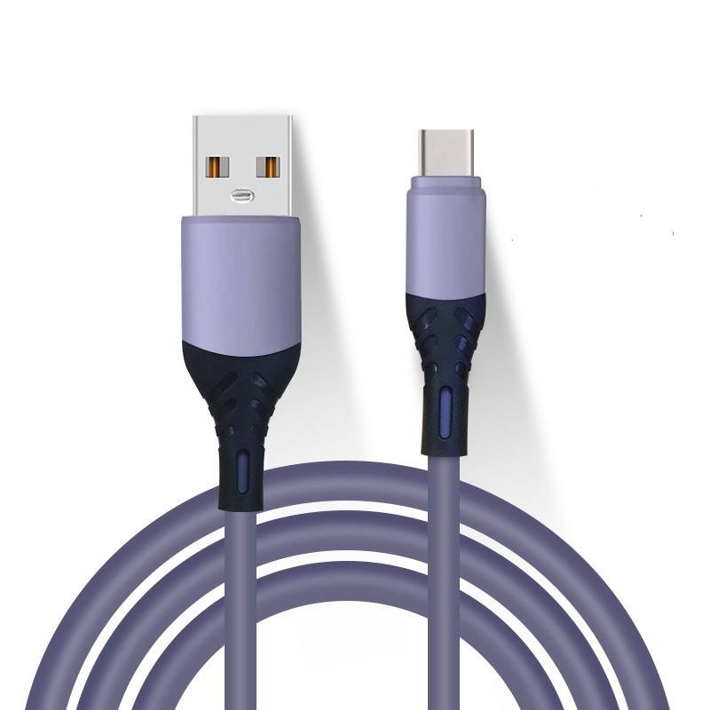 Customized Color Cool Liquid Silicone USB data Cable, Travel Cable 3 in1 Magnetic phone Charging Cable