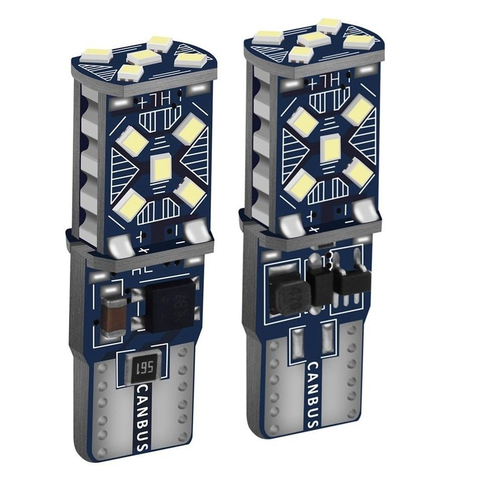 2PCS <span class=keywords><strong>T10</strong></span> <span class=keywords><strong>W5W</strong></span> Neue super helle LED-Standlichter WY5W 168 501 2825 Auto Wedge Turn Side Bulbs Auto Interieur Reading Dome Lampe
