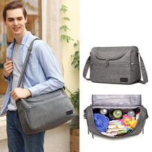Multifunctional large-capacity Daddy bag shoulder diagonal mom bag baby diaper bag