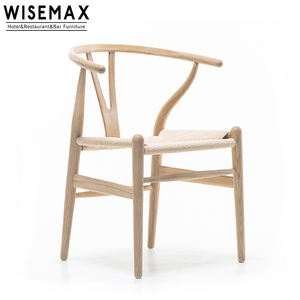 Modern restaurant furniture wooden dining chair creative Y chair wishbone chair for sale