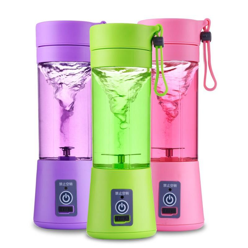 P045 Multipurpose Portable Mini Blender Plastic USB Charging Extractor 4 leaf blade Fruit Vegetable Cocktail Juicer