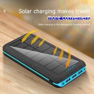 Innovative products 2020 power banks wireless charging 30000mAh solar power bank for htc