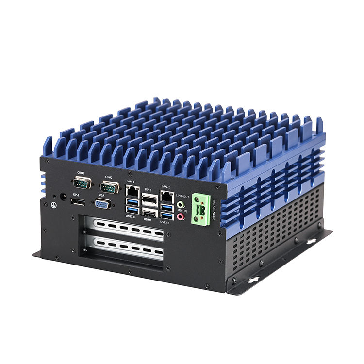 wholesale intel i3/i5/i7 high performance fanless industrial box pc with PCI or PCIe expansion