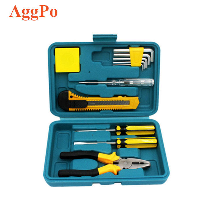12 PCS Portable Household Repair Hand Tool Set Mini Car Basic General Repair Screwdriver Hex Key Wrench Home Hand Tool Box Set