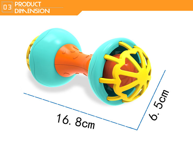 Newborn baby toy cartoon infant hand bell set silicone rattle
