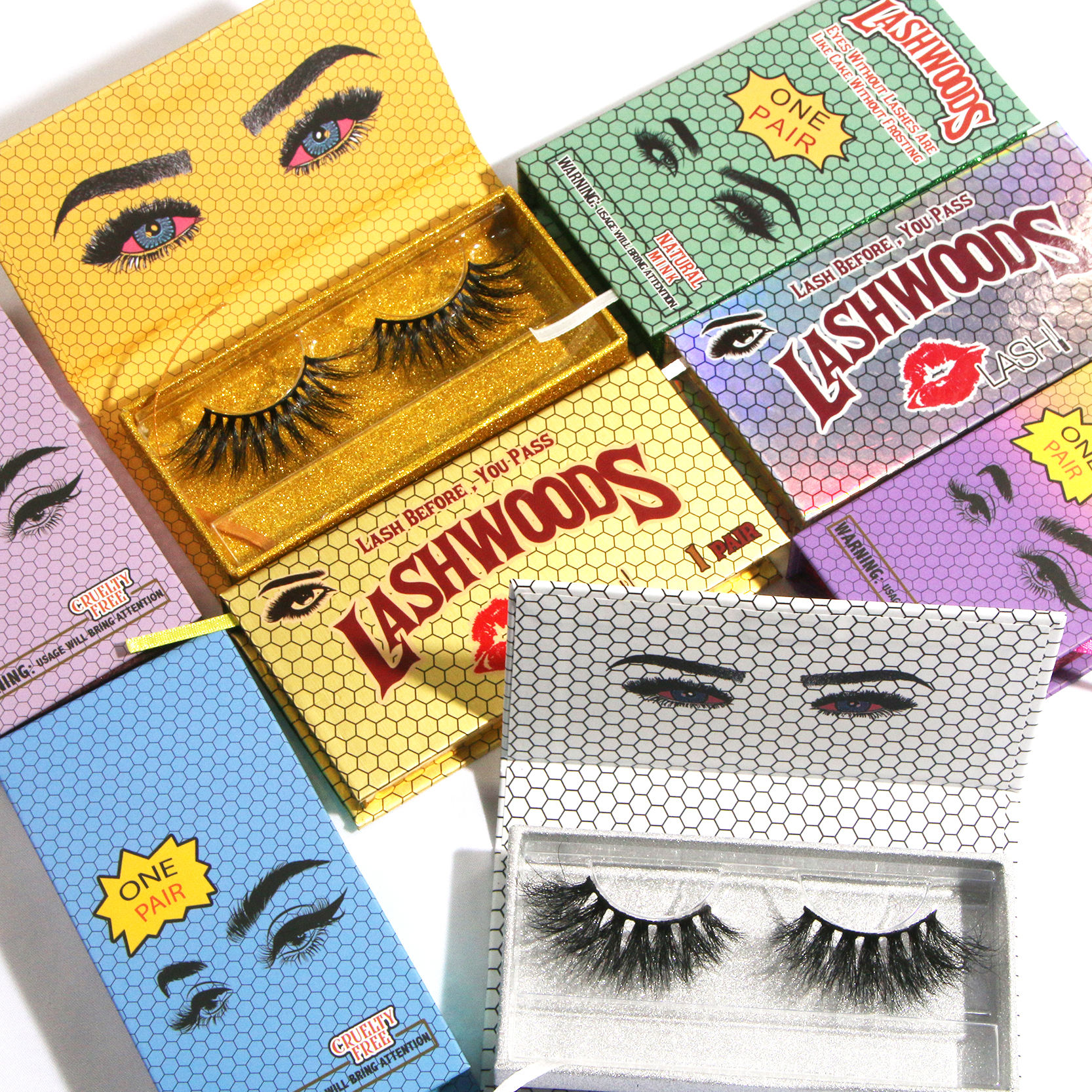 Free Sample 25mm 3D Wispy Mink Eyelashes Vendor Luxury 25 mm 3D Mink Eyelash Lashes Vendor