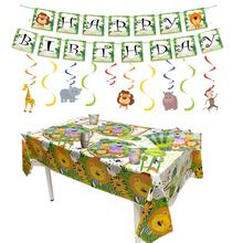 Amazon Hot Jungle Safari Animals Birthday Party Tableware Forest Zoo Animal Party Dinnerware Set Jungle Safari Party Supplies