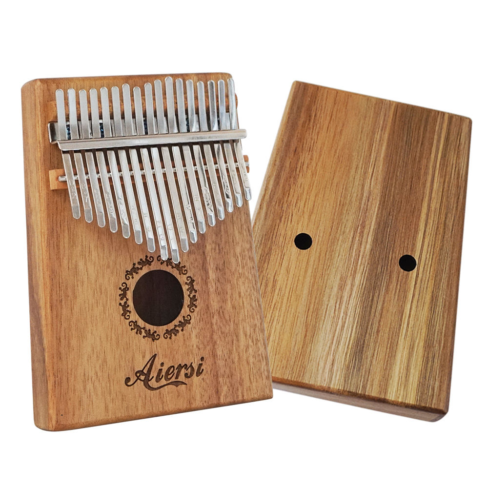 Solid koa professional aiersi brand 17 keys Kalimba Gecko Mini Thumb Piano with book hammer and bag