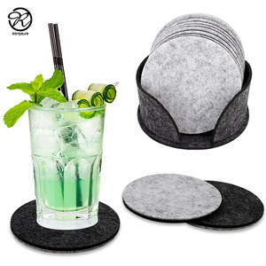 Absorberende Ronde Vorm Vilt Drinken Coaster Set Premium Vilt Glas Coaster Set Water Absorptie Vilt Drinken Coaster Set