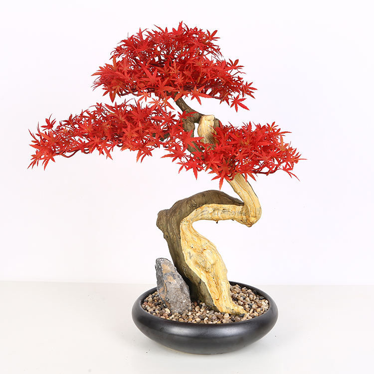 Hot selling maple bloemen planten kunstmatige boom bonsai