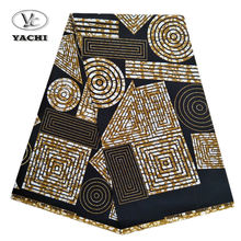wax print fabric african 100% cotton waxed fabric