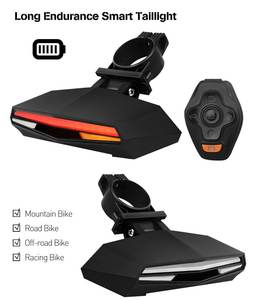 New wireless remote control laser flash15 led bike turn signal indicator tail light for bicycle