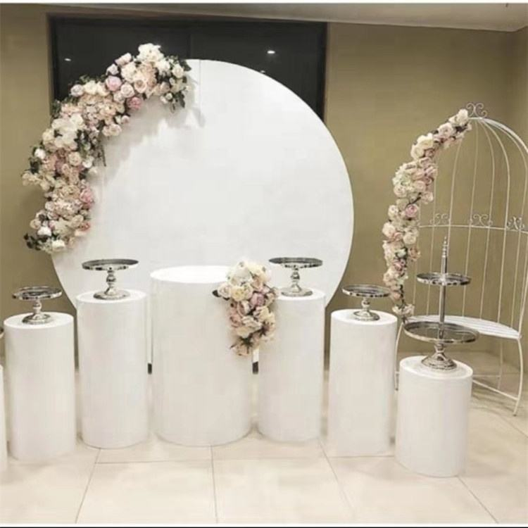 Wedding supplies Round White Donut Circle Stand acrylic round backdrop for wedding stage decoration