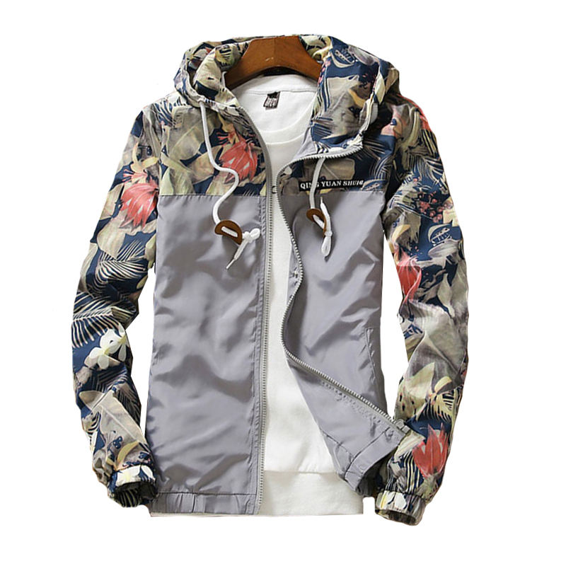 men's Hooded Jackets Summer Casual windbreaker Basic Jackets Coats Sweater Zipper Lightweight Jackets Bomber