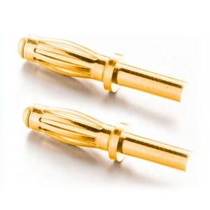 2mm 2.5mm 3mm 3.5mm mini banana plug gold plated brass bullet banana connector for PCB board